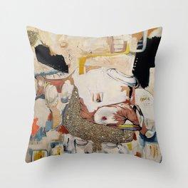 Glitter Sister Throw Pillow