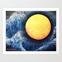 Hikari Moon Art Print