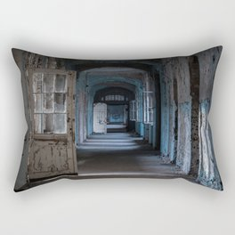 Blues, abandoned hospital Rectangular Pillow