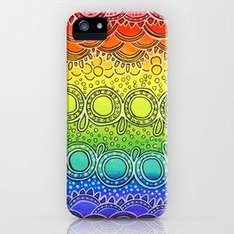 Rainbow Doodle iPhone Case
