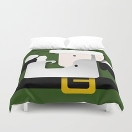 Green Santa Duvet Cover