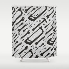 Tools Pattern Shower Curtain