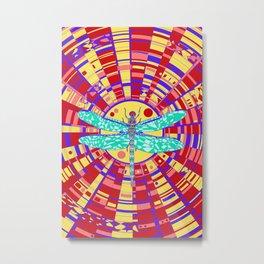 Dragon on glass Metal Print