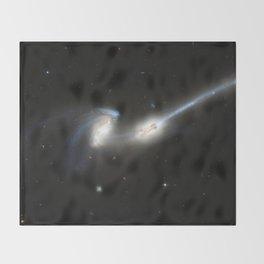 Galaxy merger Throw Blanket