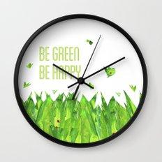 Be green, be happy Wall Clock