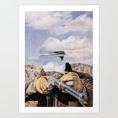 The Unknown Rider Buckskin Run Art Print