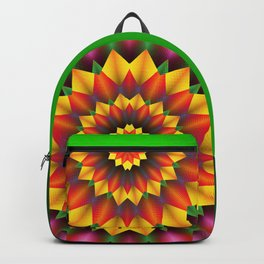 Abstract colorful flowers Mandala Backpack