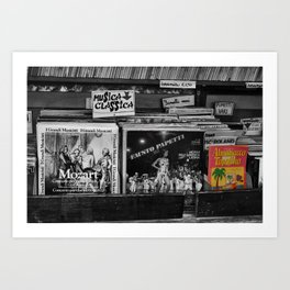 Italian Vintage Comic and Books Black and White & Color Photography Art Print