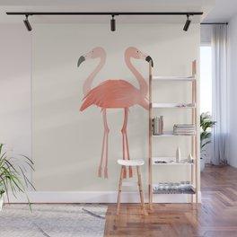 Double Flamingo Wall Mural
