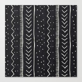 Moroccan Stripe in Black and White Canvas Print