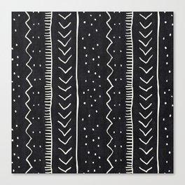 Moroccan Stripe in Black and White Canvas Print