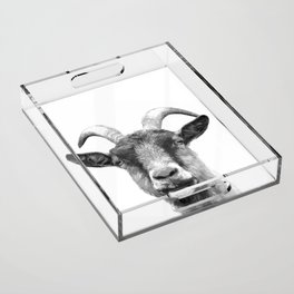 Black and White Goat Acrylic Tray