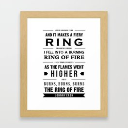 """Ring of Fire"" Framed Art Print"