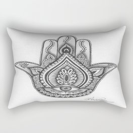 Hamsa hand Illustration (Evil Eye) protection/good luck - By Ashley Rose Standish Rectangular Pillow