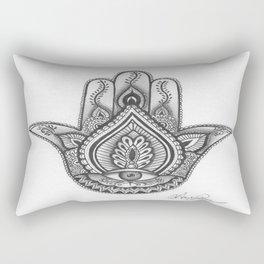 Hamsa hand Illustration (Evil Eye) protection/good luck - By Ashley Rose Standish Rectangular Pillow