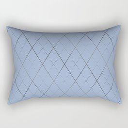 Argyle (Dove Grey) Rectangular Pillow