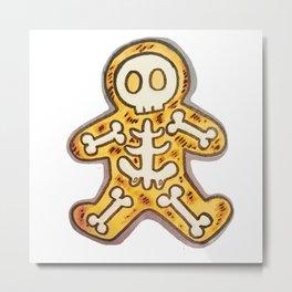 Burnt Christmas Cookie Metal Print