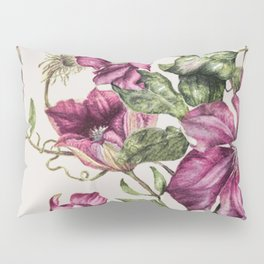 Purple Flowers 3 Pillow Sham