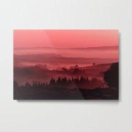 My road, my way. Red. Metal Print