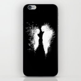 Transcending Duality (White on Black) iPhone Skin