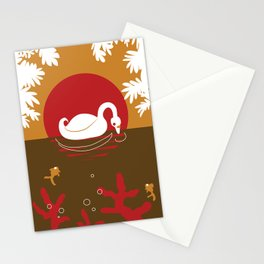 Loving Swan Stationery Cards