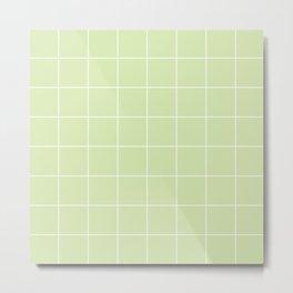 Absinthe Grid Metal Print