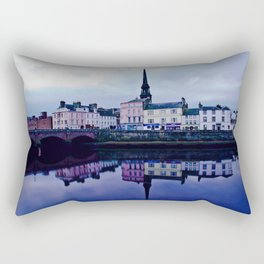 Ayr Town And Auld Bridge  Rectangular Pillow