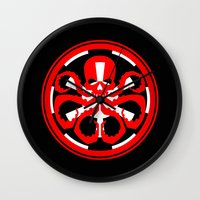 hydra Wall Clocks featuring Hydra Empire by •tj•rae•