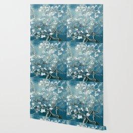 Vincent Van Gogh Almond Blossoms Teal Wallpaper