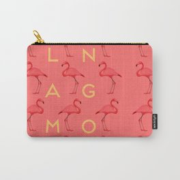 Flamingos #4 Carry-All Pouch