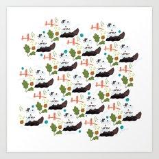 San Francisco pattern Art Print