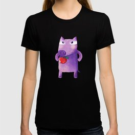 Purple Piglet With Apple T-shirt
