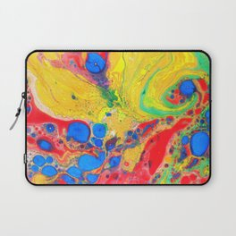 Marbling, Tie Dye Effect Abstract Pattern Laptop Sleeve