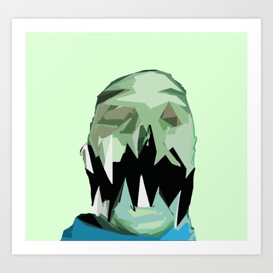 Monster Face 3 Art Print