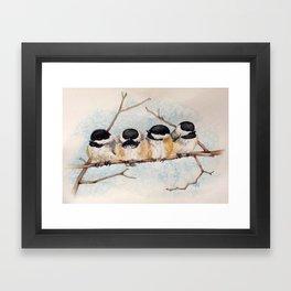 Black-capped Chickadees Framed Art Print
