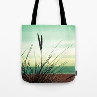 dune Tote Bags featuring Dune View by ALLY COXON