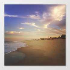 sunset on the shore Canvas Print