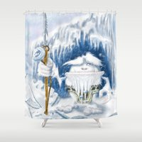 yeti Shower Curtains featuring Yeti by Juan Pablo Cornejo