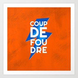 Coup de Foudre / Blue Lightning Art Print