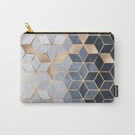 Soft Blue Gradient Cubes Tasche