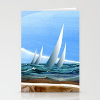geology Stationery Cards featuring The Geology of Boating by Patricia Howitt