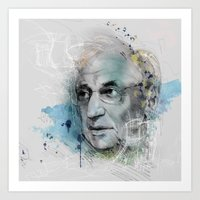 Art Print featuring Frank Gehry and skeches by Podessto