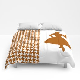 Caramel Modern Houndstooth with Fashion Silhouette Comforters