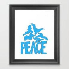 Peace in blue Framed Art Print