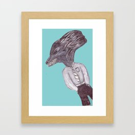 Casual Wolfman Framed Art Print