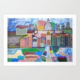 Panoramic view of London Art Print