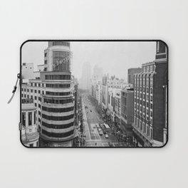 Gran Via in Madrid Laptop Sleeve