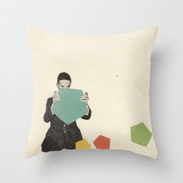 Discovering New Shapes Throw Pillow