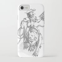 western iPhone & iPod Cases featuring western rat by kasowy