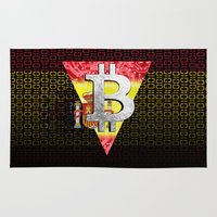 spain Area & Throw Rugs featuring bitcoin spain by seb mcnulty